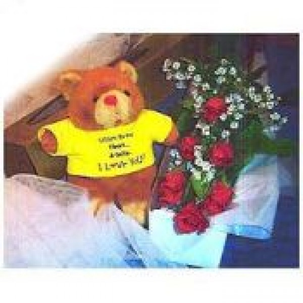 Bear & Roses in a Box 72346