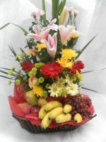 Fruits and Spring Flowers